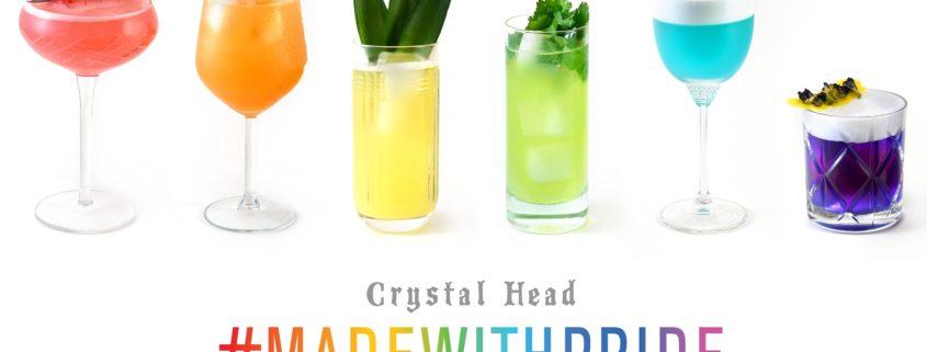 Rainbow Cocktails #MadeWithPride & Crystal Head Vodka