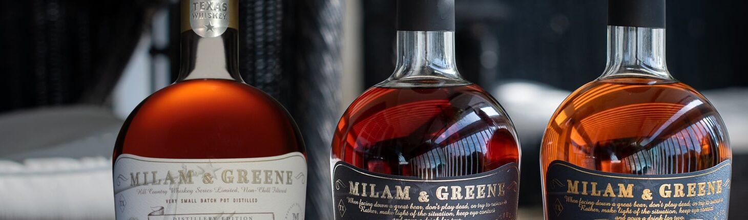 Never Delay Opening a Bottle of Milam & Greene Whiskey