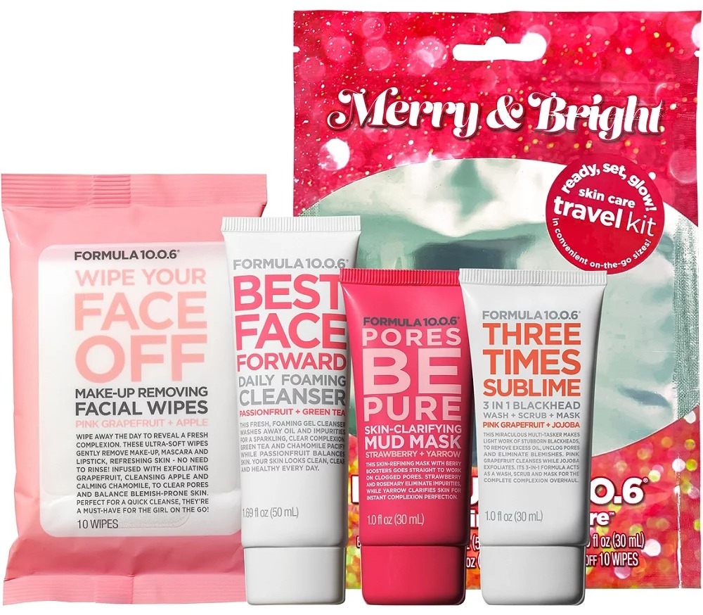 Formula 10.0.6 Merry & Bright Skin Care Trial Size Collection