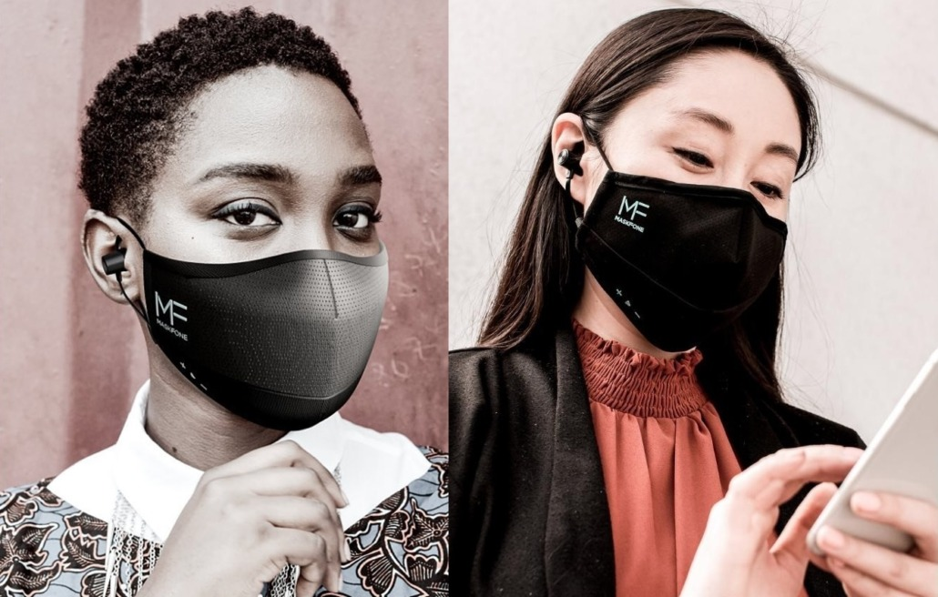 MaskFone - The World's First Athletic Face Mask with Integrated Earbuds