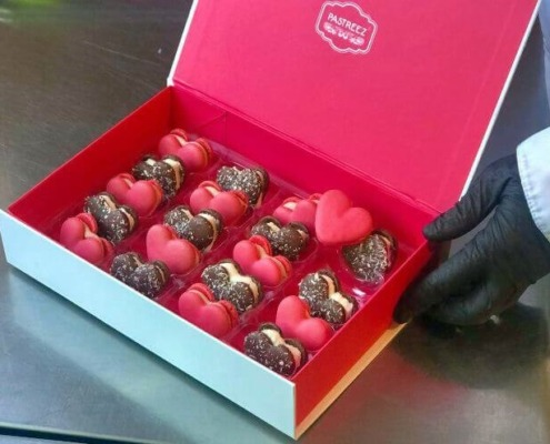 Sweet Love: Give the Gift of Pastreez Valentine's Day Heart Macarons