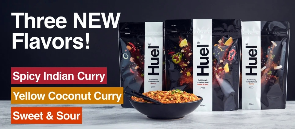 Huel Hot & Savory World's First Nutritionally CompleteInstant Curry Meals