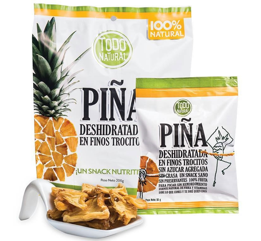Todo Natural Dehydrated Pineapple Chunks
