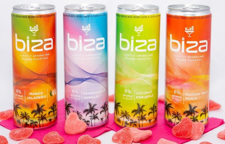 Biza Cocktails: These Tropical Canned Cocktails are a Vacation in a Can