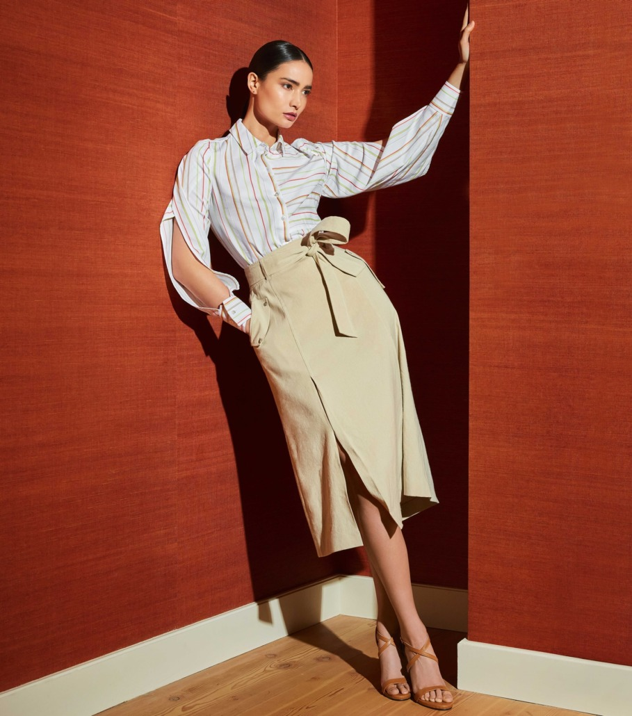 Spring 21: Per Se by Carlisle Curator Blouse and Brindle Skirt