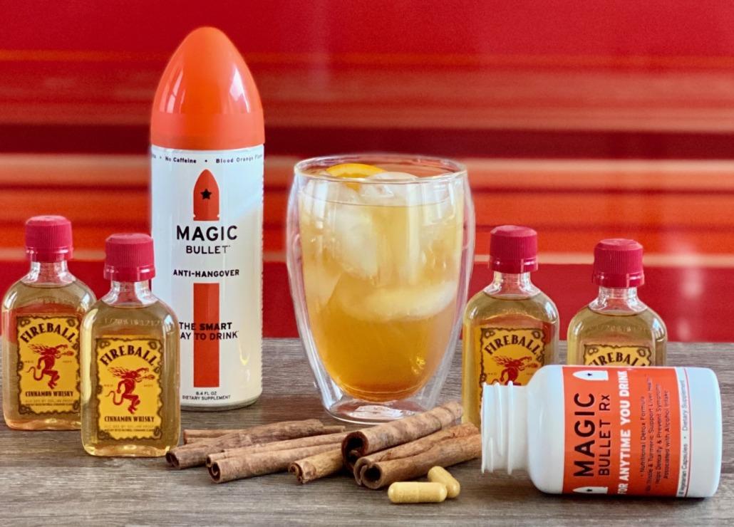 Fireball Bullet Cocktail