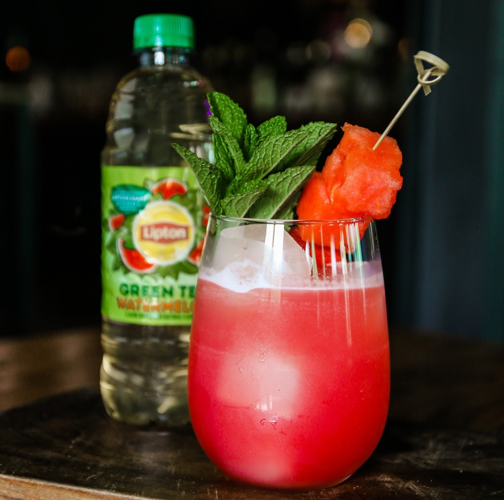 Lipton Green Tea Watermelon Lily Cocktail
