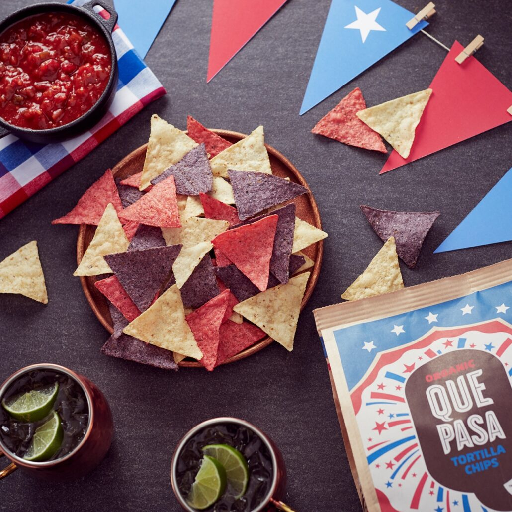Celebrate the 4th of July with Que Pasa Liberty Chips