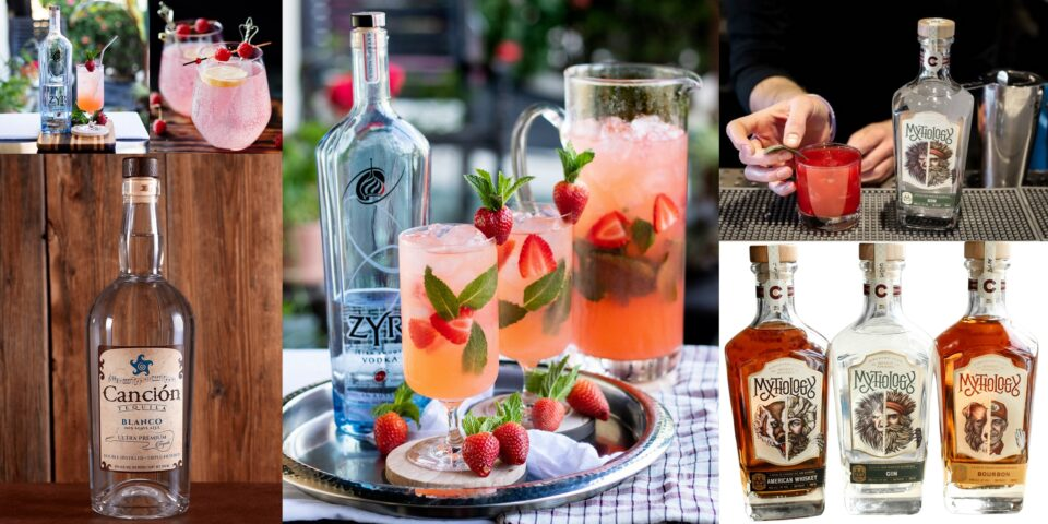 Summer Cocktails with Zyr Vodka, Canción Tequila, and Needle Pig Gin
