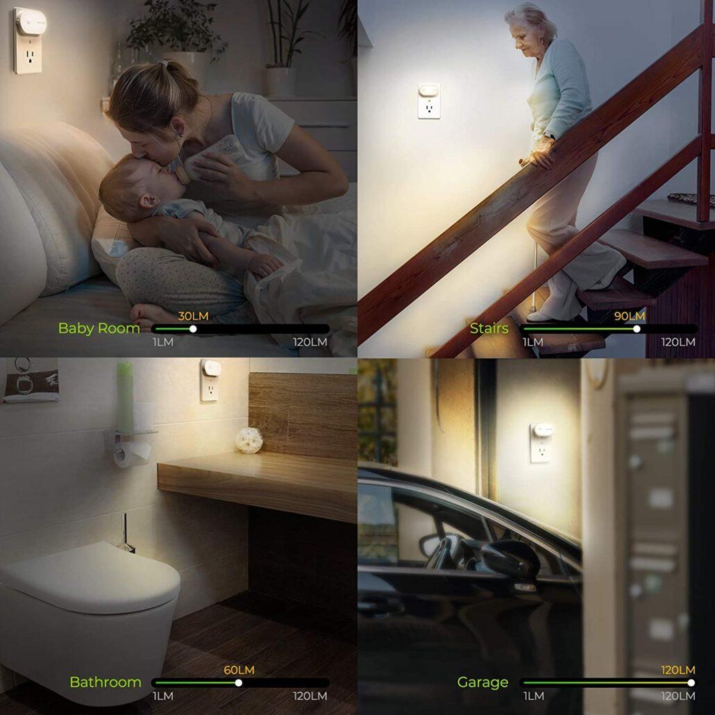 Late Night Light Up: AUVON Ultra Bright Motion Sensor Night Light Plug