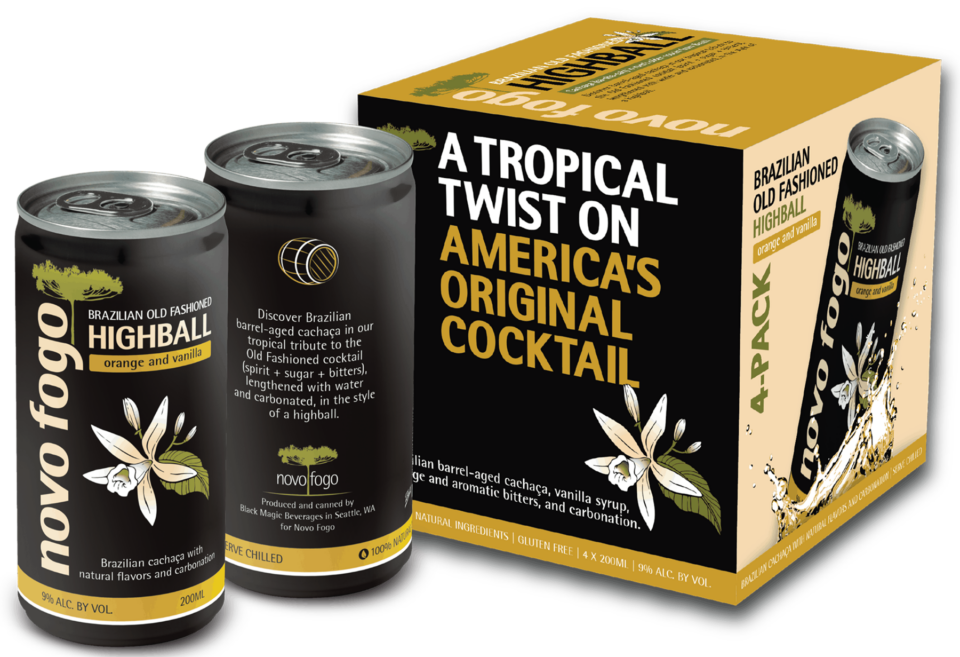 Novo Fogo Releases Brazilian Old Fashioned Highball in a Can